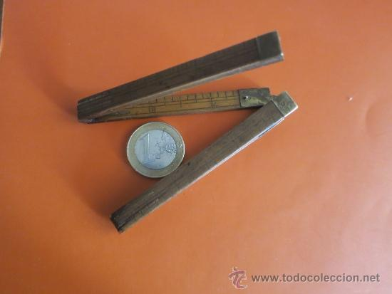 Antigüedades: pequeño metro ingles de 1 pie - Foto 7 - 38951339