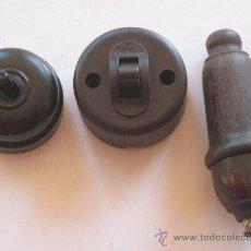 Antigüedades: LOTE DE 3 INTERRUPTORES ELECTRICOS ANTIGUOS.. Lote 38983854