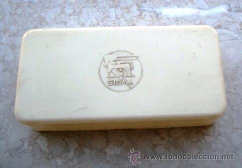 CAJA PARA ACESSORIOS MAQUINA DE COSER SIGMA (VACIA, 16,5 X 8 X 4CM APROX) (Antigüedades - Técnicas - Máquinas de Coser Antiguas - Sigma)