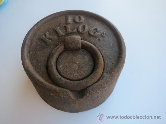 PESA DE 10 KILOS CON MARCA DE FABRICA BOLUETA -BILBAO (Antigüedades - Técnicas - Medidas de Peso Antiguas - Otras)