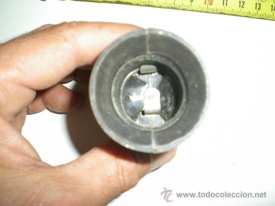 Antigüedades: antiguo portalamparas con doble enchufe en baquelita y porcelana años 40 - Foto 2 - 38998700