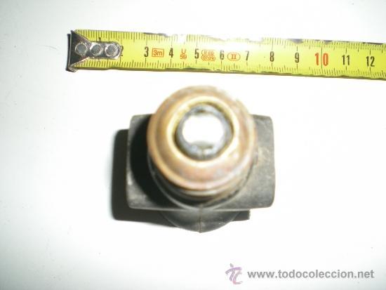 Antigüedades: antiguo portalamparas con doble enchufe en baquelita y porcelana años 40 - Foto 3 - 38998700