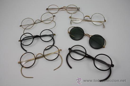 COLECCIÓN DE 11 GAFAS Y CRISTALES GRADUADOS DE REPUESTO. CASI TODAS DEL PRIMER TERCIO DEL S. XX (Antigüedades - Técnicas - Instrumentos Ópticos - Gafas Antiguas)