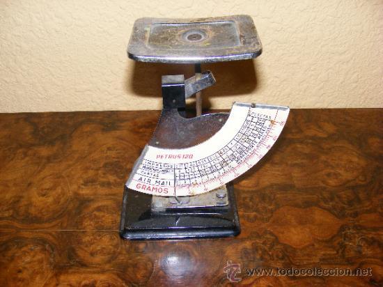 BALANZA DE CARTAS (Antigüedades - Técnicas - Medidas de Peso - Balanzas Antiguas)