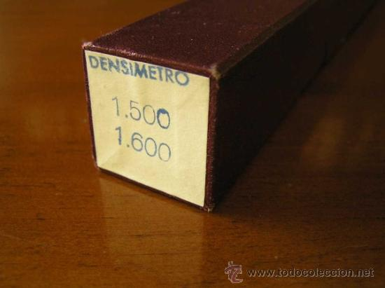 Antigüedades: DENSIMETRO ANTIGUO PROTON 1.500 - 1.600 DENSIMETER - Foto 28 - 39146530