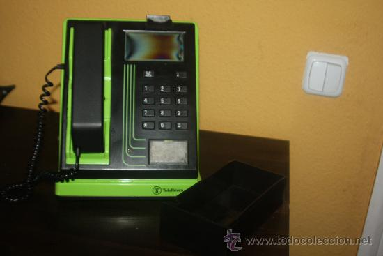 CABINA TELEFONO COLOR VERDE (Antigüedades - Técnicas - Teléfonos Antiguos)