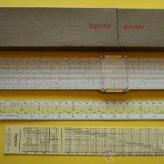 Antigüedades: ANTIGUA REGLA DE CÁLCULO ARISTO STUDIO 0968 GERMANY. Lote 39268180
