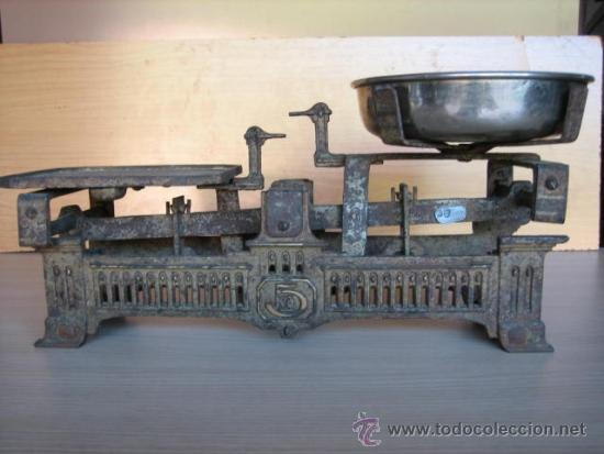 BALANZA ALEMANA ANTIGUA, DE 5 KLG. (Antigüedades - Técnicas - Medidas de Peso - Balanzas Antiguas)