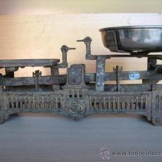 Antigüedades: BALANZA ALEMANA ANTIGUA, DE 5 KLG.. Lote 39272584