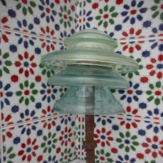 Antigüedades: AISLADOR DE CRISTAL ANTIGUO, GRANDE. Lote 39280584