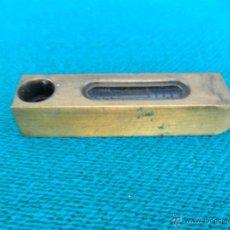 Antigüedades: PEQUEÑO NIVEL DE METAL. Lote 39429534