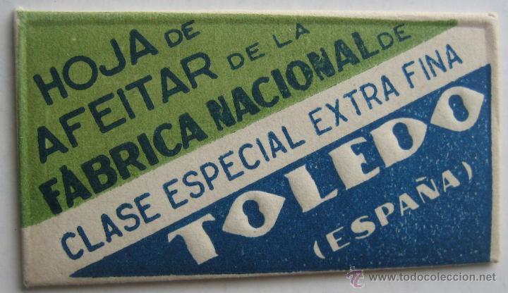 HOJA DE AFEITAR TOLEDO (Antigüedades - Técnicas - Barbería - Hojas de Afeitar Antiguas)