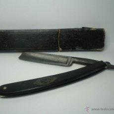 Antigüedades: NAVAJA DE BARBERO AFEITAR EL PESCADOR SOLINGEN. Lote 39988976