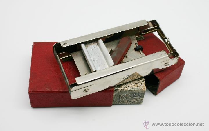 Antigüedades: Antiguo afilador de cuchillas de afeitar Allegro, años 30. - Foto 2 - 39467716