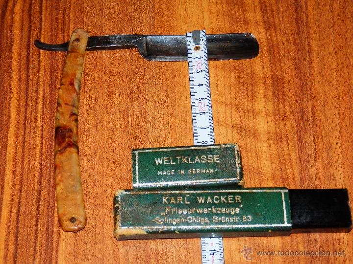 Usado, NAVAJA RAZOR AFEITAR KARL WACKER WEKTKLASSE SOLINGEN GERMANY 2255 VER FOTOS ESTADO segunda mano