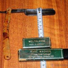 Antigüedades: NAVAJA RAZOR AFEITAR KARL WACKER WEKTKLASSE SOLINGEN GERMANY 2255 VER FOTOS ESTADO . Lote 39532470