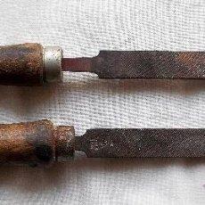 Antigüedades: 2 ANTIGUAS LIMAS - HERRAMIENTAS. Lote 39591278