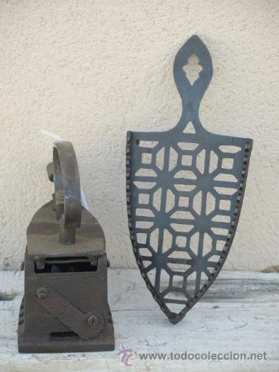 Antigüedades: PLANCHA hierro. C 1900. TRESPIES hierro fundido. - Foto 2 - 39599074
