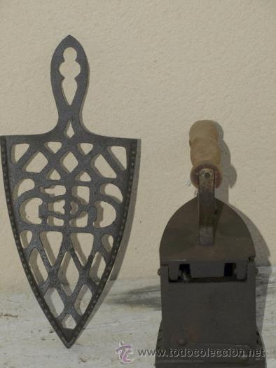 """Antigüedades: PLANCHA hierrro. C 1900. """"Lince"""" elorrio. TRESPIES hierro fundido. - Foto 2 - 39599098"""