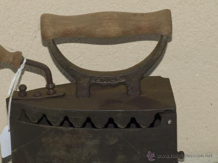 """Antigüedades: PLANCHA hierrro. C 1900. """"Lince"""" elorrio. TRESPIES hierro fundido. - Foto 3 - 39599098"""