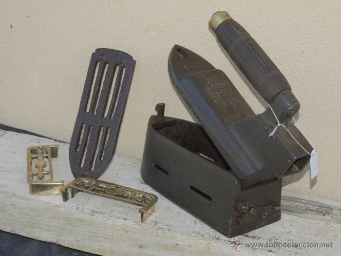 Antigüedades: PLANCHA hierro. C 1900. francia TRESPIES- soporte bronce. completa - Foto 2 - 39599203
