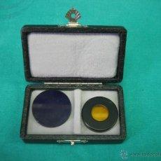 Antigüedades: FILTROS PARA MICROSCOPIO. FLUORESZENZ FILTRE B. WILD HEERBRUGG. Lote 39604056