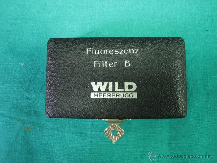Antigüedades: Filtros para microscopio. Fluoreszenz filtre B. Wild Heerbrugg - Foto 2 - 39604056