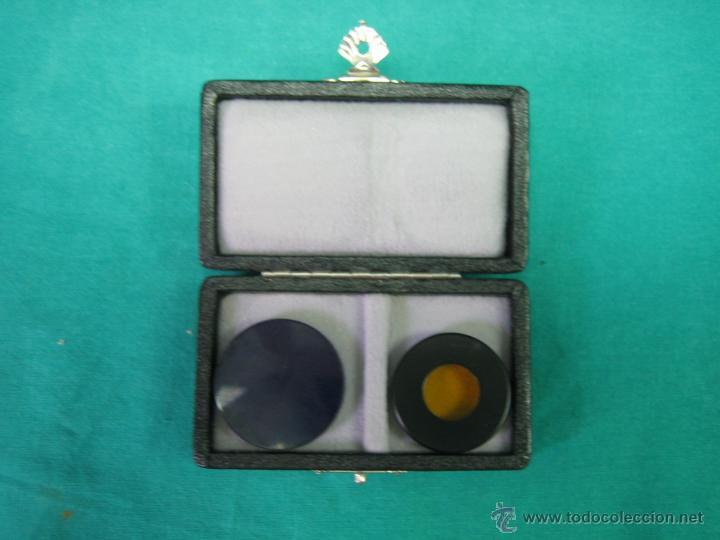Antigüedades: Filtros para microscopio. Fluoreszenz filtre B. Wild Heerbrugg - Foto 3 - 39604056