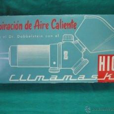 Antigüedades: RESPIRADOR ANTIGUO DE AIRE CALIENTE . CLIMANASKE HICO. SIN USO. Lote 39694472