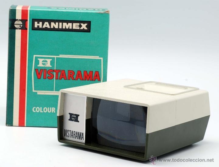 VISOR VISTARAMA HANIMEX PARA DIAPOSITIVAS CON CAJA AÑOS 70 (Antigüedades - Técnicas - Aparatos de Cine Antiguo - Visores Estereoscópicos Antiguos)