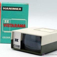 Antigüedades: VISOR VISTARAMA HANIMEX PARA DIAPOSITIVAS CON CAJA AÑOS 70. Lote 39702559