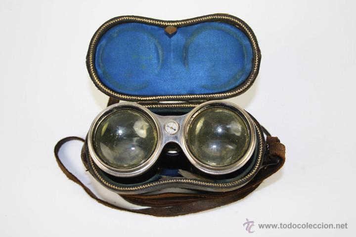 PRISMÁTICOS CON BRÚJULA DEL SIGLO XIX - FUNDA ORIGINAL (Antiquitäten - Technische - Optische Instrumente - Antike Ferngläser)