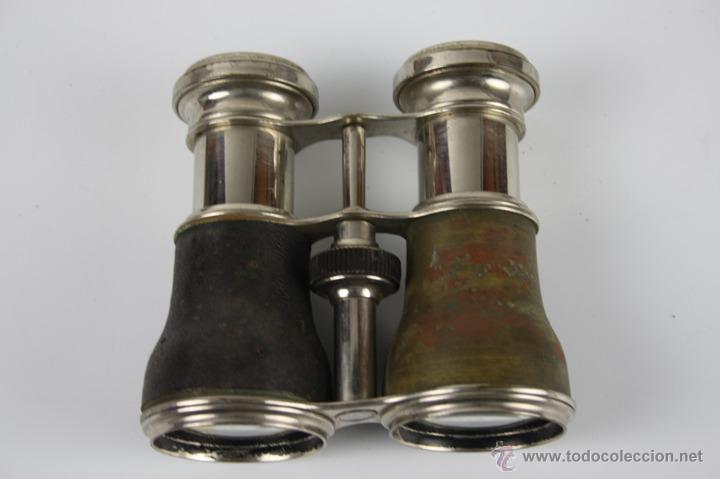 Antiquitäten: PRISMÁTICOS CON BRÚJULA DEL SIGLO XIX - FUNDA ORIGINAL - Foto 3 - 39745525
