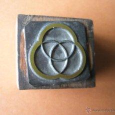 Antigüedades: Aº SELLO TAMPÓN-EMPRESA MANRESANA ANTIGUA-30X30 MM--.. Lote 39758018