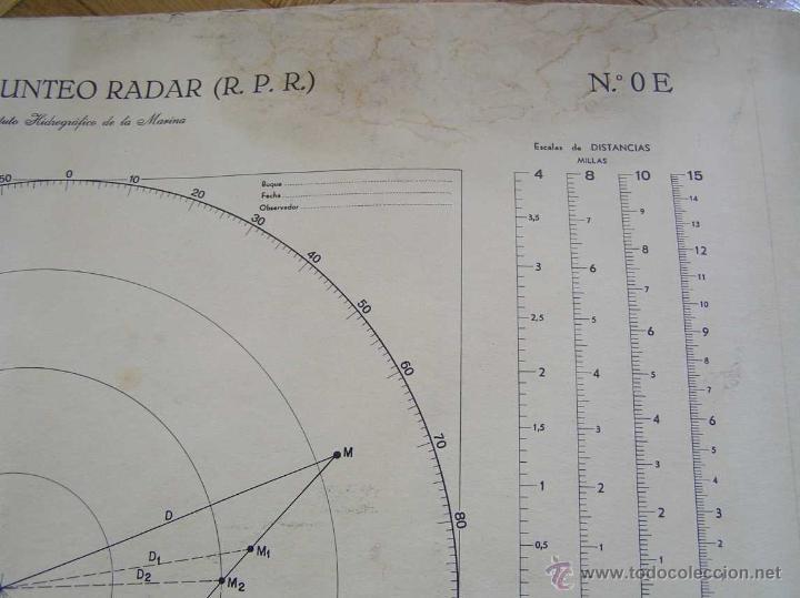 Antigüedades: NOMOGRAMA ROSA DE PUNTEO RADAR (R. P. R.) Instituto Hidrográfico de la Marina Nº. OE - Foto 5 - 39756541