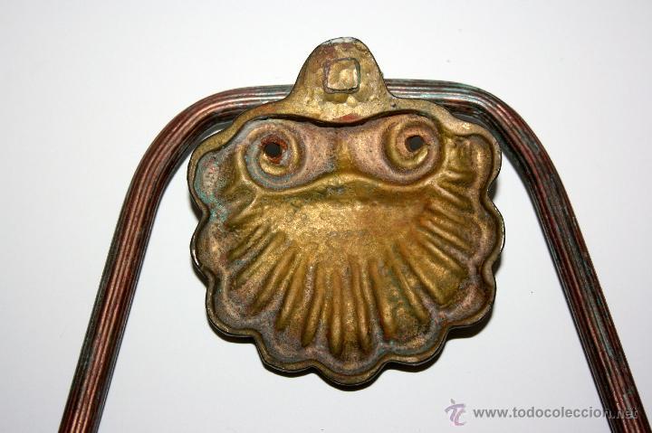 Antigüedades: LLAMADOR METALICO ANTIGUO - MIDE 17 X 16 CMS - Foto 3 - 39762943