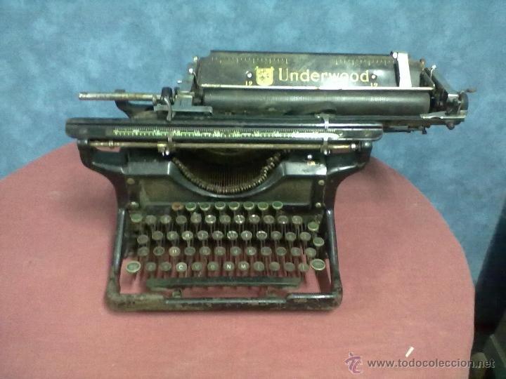 MAQUINA DE ESCRIBIR UNDERWOOD 12 CARRO ANCHO PARA DECORAR ARREGLAR O PIEZAS. (Antigüedades - Técnicas - Máquinas de Escribir Antiguas - Underwood)