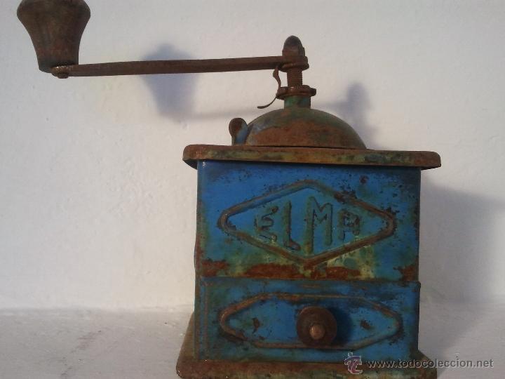MOLINILLO DE CAFE ELMA EN METAL , ANTIGUO, (Antigüedades - Técnicas - Molinillos de Café Antiguos)