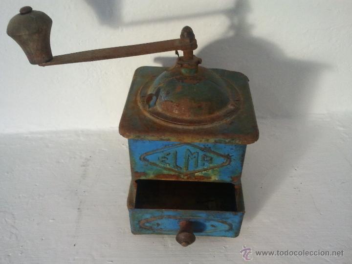Antigüedades: Molinillo de cafe ELMA en metal , antiguo, - Foto 2 - 39815358