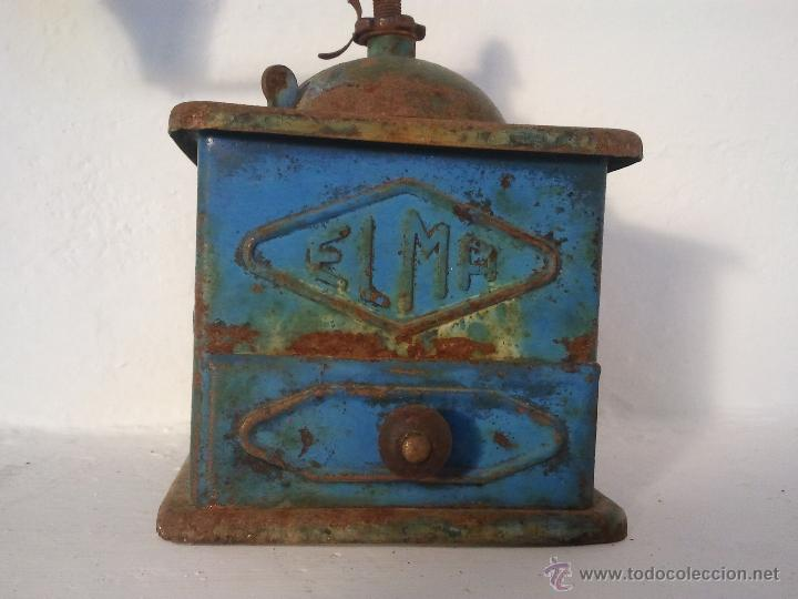 Antigüedades: Molinillo de cafe ELMA en metal , antiguo, - Foto 3 - 39815358