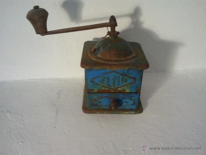 Antigüedades: Molinillo de cafe ELMA en metal , antiguo, - Foto 5 - 39815358