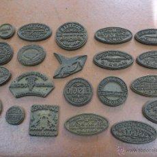 Antigüedades: GRAN LOTE DE TAMPONES DE BRONCE DE PUBLICIDAD, ORIGINALES, AÑOS 30-40-50. Lote 39831682