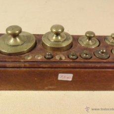 Antigüedades: ANTIGUO TACO DE PESAS PARA BALANZA DE 2 KG- VT VALENCIA -. Lote 39830605