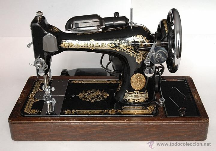 antigua máquina de coser singer de 1941 con mot - Comprar