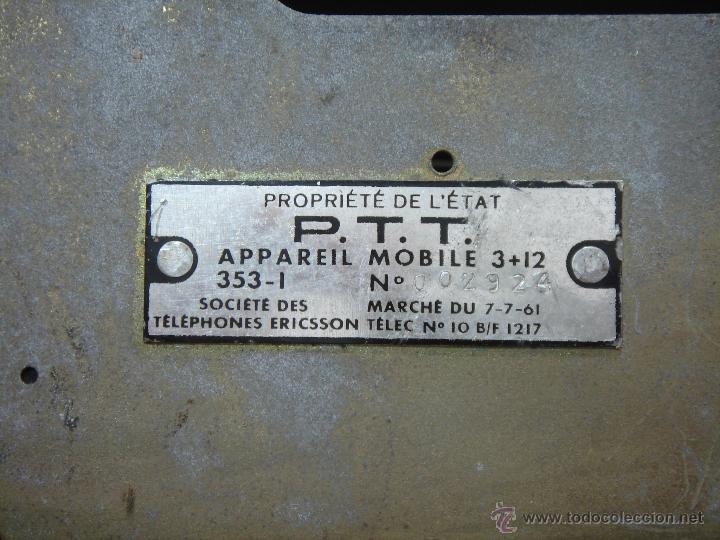 Teléfonos: IMPRESIONANTE TELEFONO BAQUELITA- ERICSSON MODELO COCODRILO PTT 1950 -CENTRALITA Y AURICULAR EXTRA - Foto 10 - 39906182