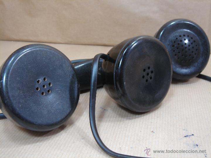 Teléfonos: IMPRESIONANTE TELEFONO BAQUELITA- ERICSSON MODELO COCODRILO PTT 1950 -CENTRALITA Y AURICULAR EXTRA - Foto 12 - 39906182