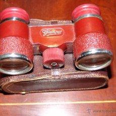 Antigüedades: PRECIOSOS PRISMÁTICOS CON SU ESTUCHE DE PIEL ORIGINAL. Lote 39957230