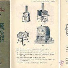 Antigüedades: CATÁLOGO DE APARATOS PARA LABORATORIO (JUAN GIRALT LAPORTA). Lote 40017613