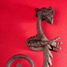 Antigüedades: DRAGON DE HIERRO FORJADO. Lote 40068082