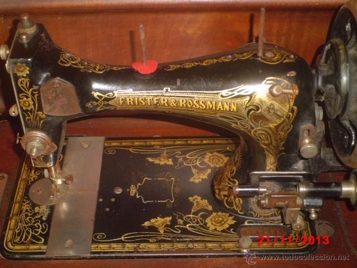Antigüedades: FANTASTICA MAQUINA DE COSER FRISTER & ROOSMANN - Foto 2 - 40089840